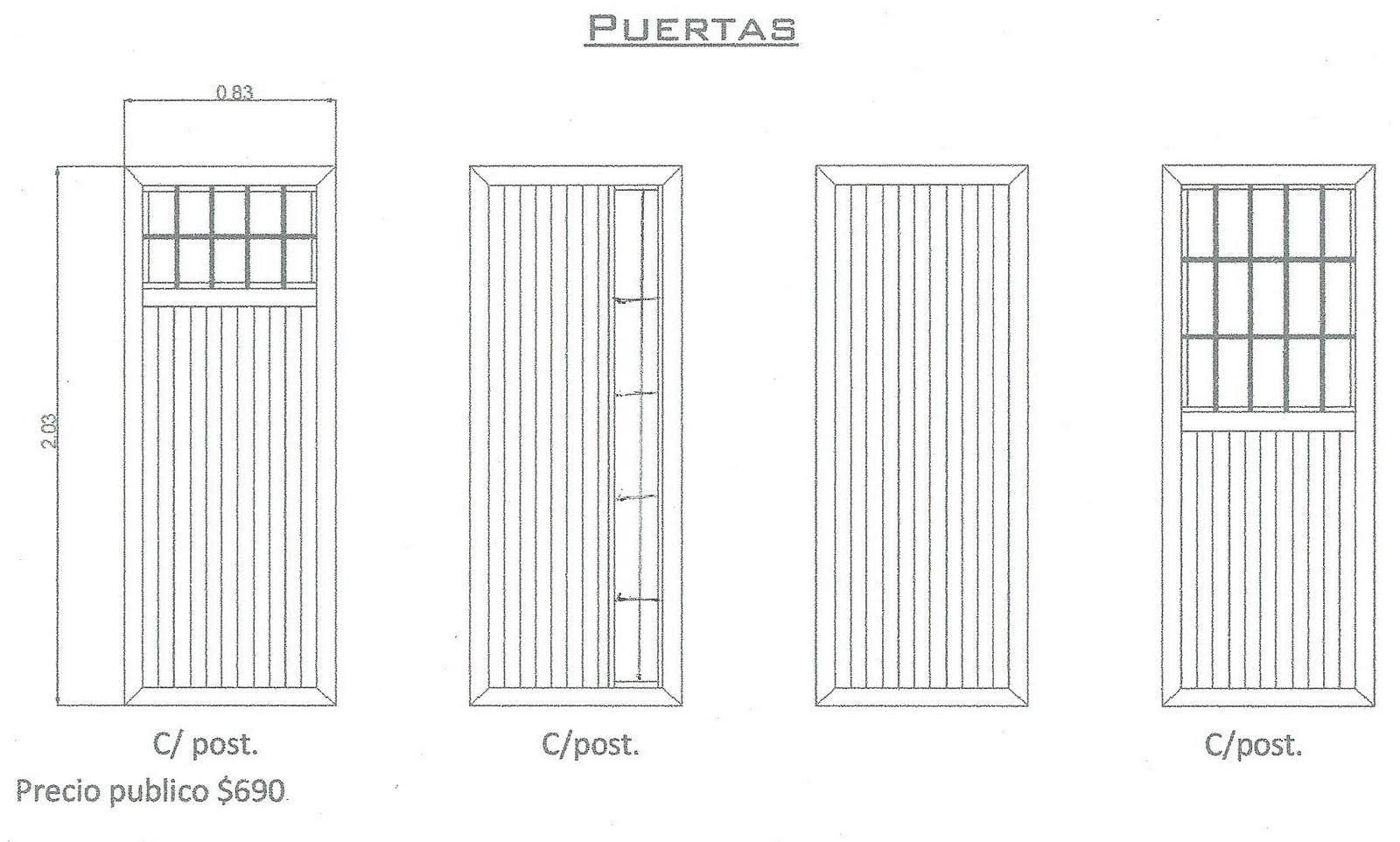 Puertas de entrada car interior design for Tipos de puertas de interior