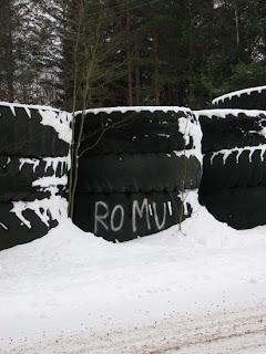 talvikuvaa kivilouhokselta
