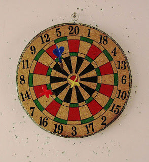 Dartboard by flickr user hpk