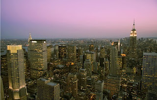 Dusk's Hues in Manhattan by flickr user midweekpost