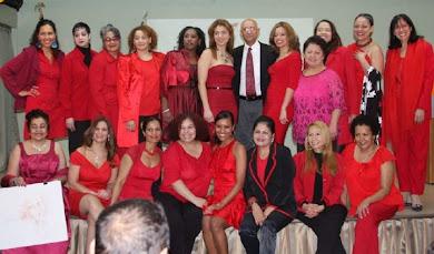 Mujeres de Rojo. Comisionado Dominicano de Cultura en los Estados Unidos