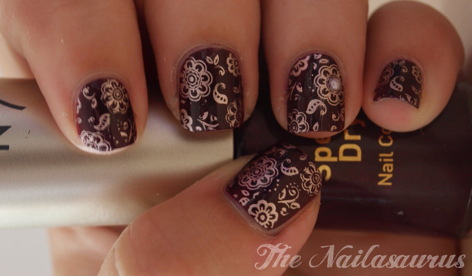 Blackberry Beauty - The Nailasaurus | UK Nail Art Blog