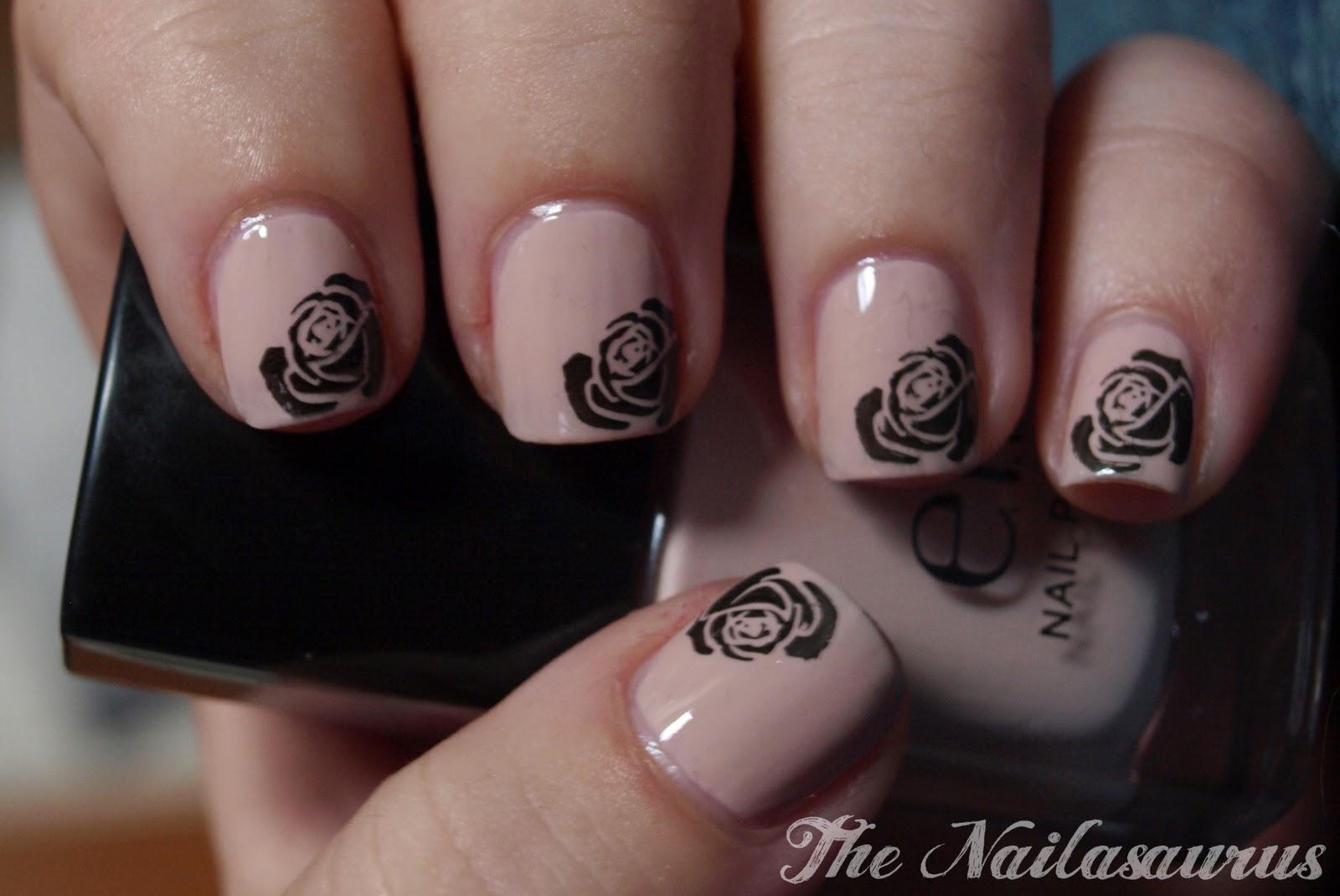 Roses Are Black Violets Are Blue The Nailasaurus Uk Nail Art