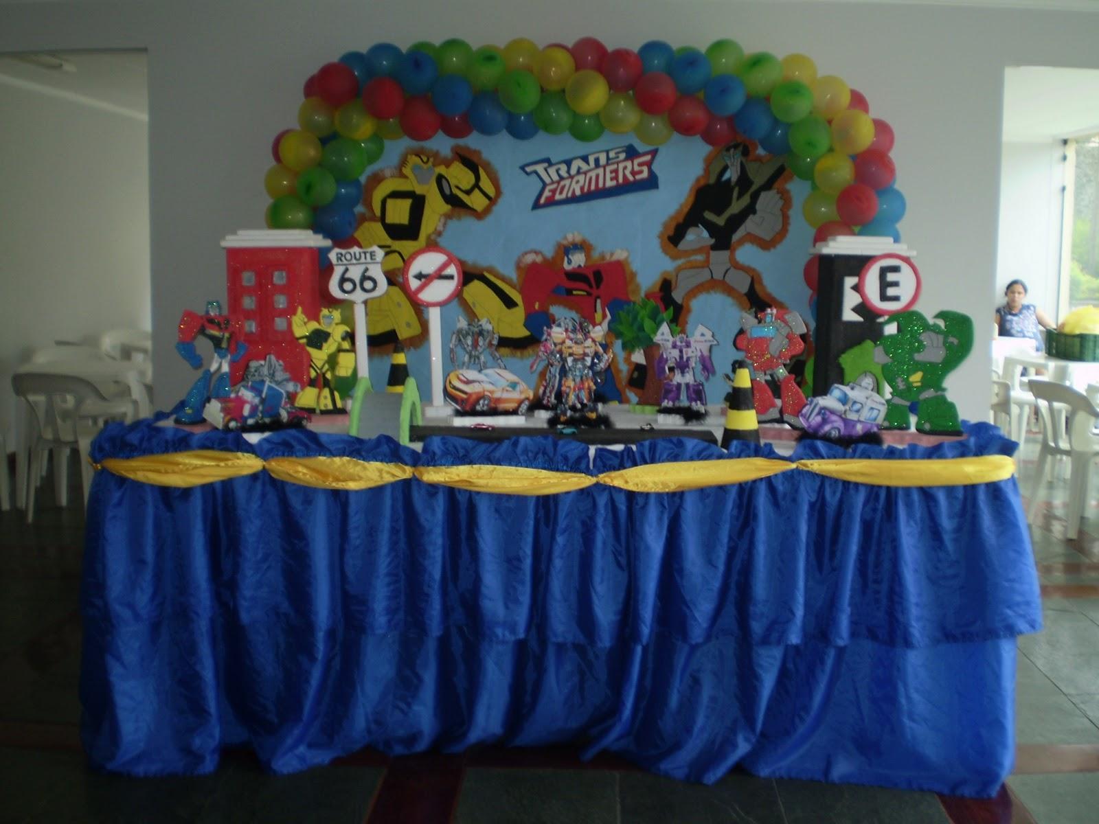 decoracao festa transformersAlugue esta decoração no pegue e monte