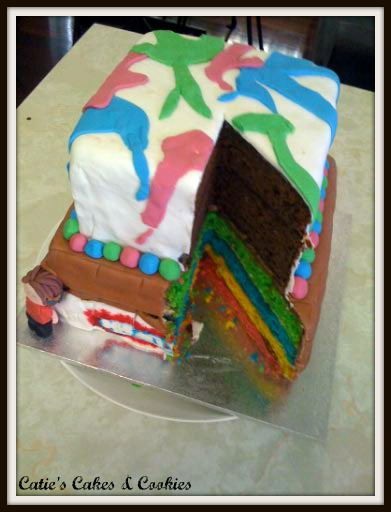 Cake Street Artist : Catie s Cakes & Cookies: Graffiti Cake