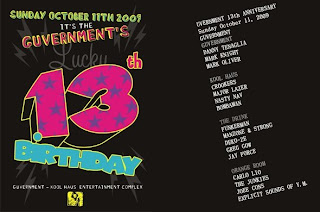 The Guvernment - Toronto - Canada - October 11th