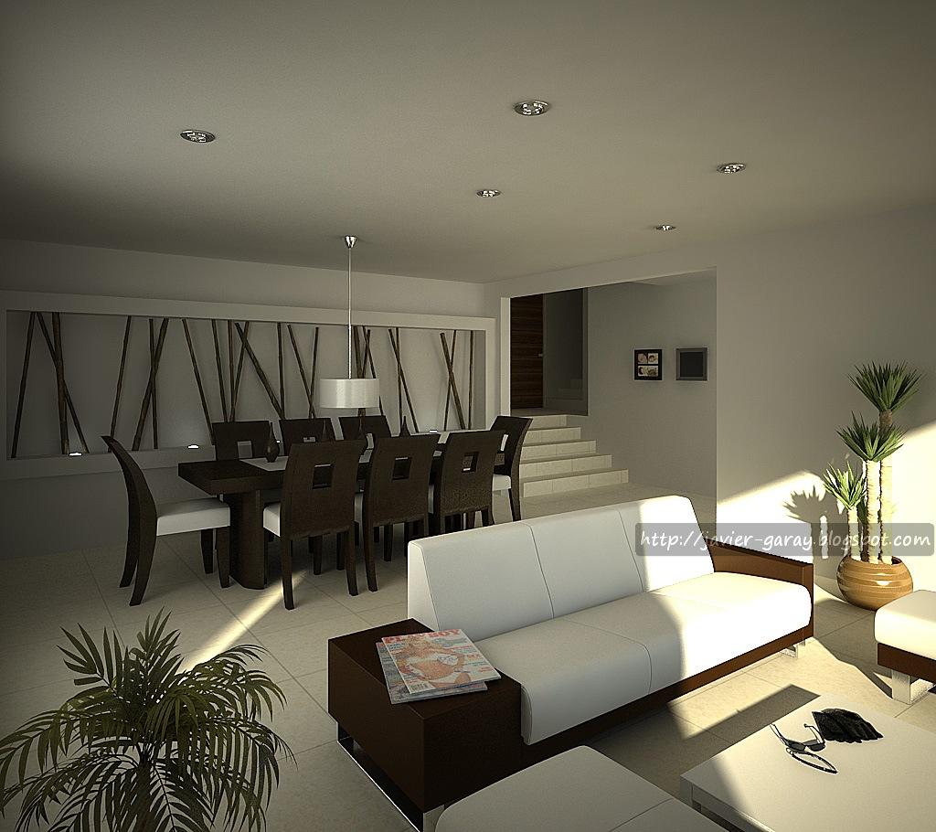 Interiores casa en tecate b c 2007 javier garay for Interiores sala comedor
