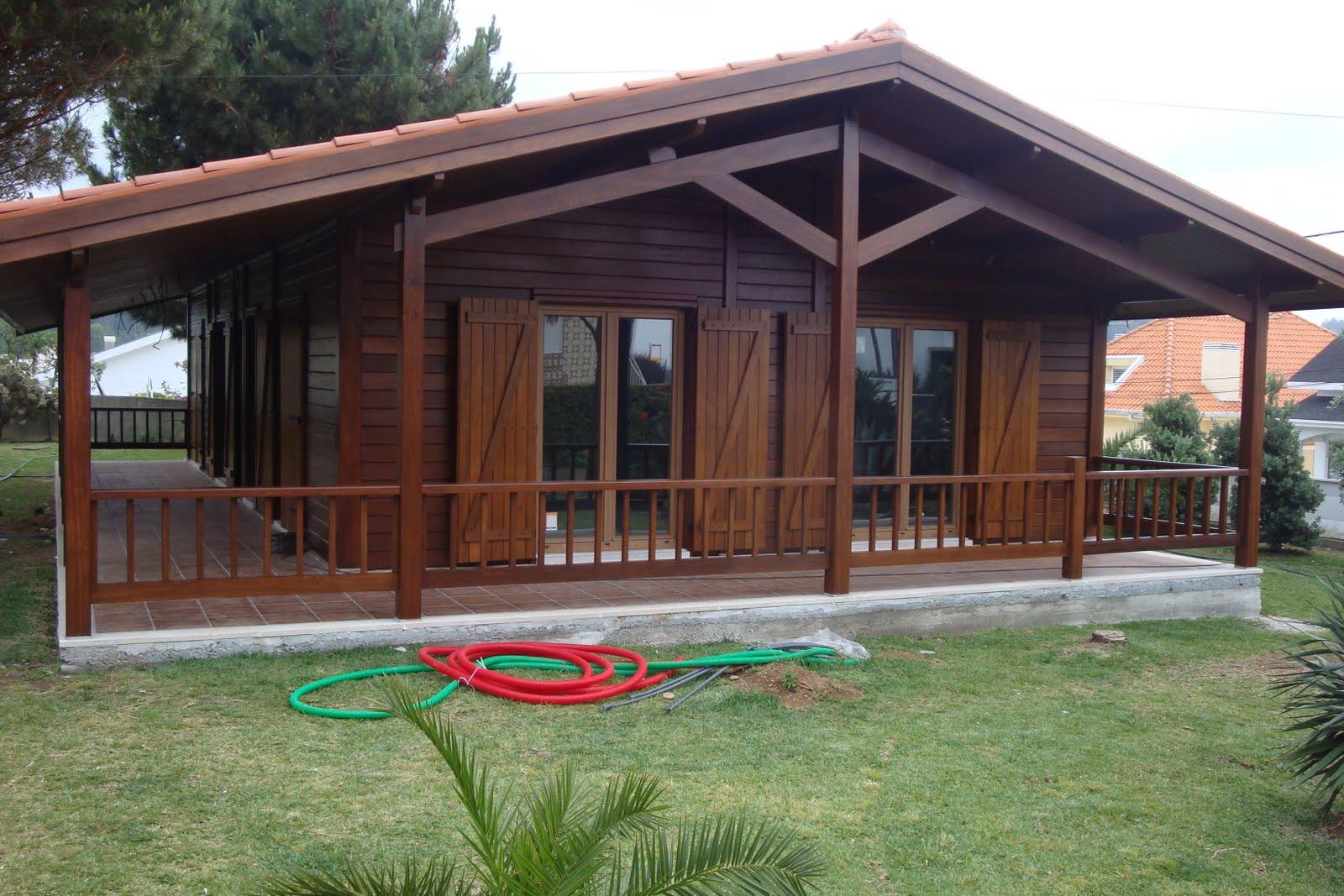 Pinturas em casas de madeira - Casas de madera portugal ...