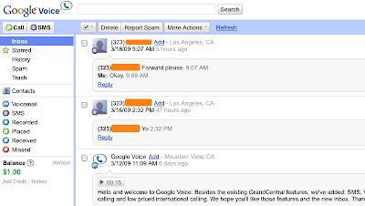 Um pouco mais sobre o Google voice, o mais novo serviço da Google.