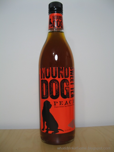 What i drink at home hound dog peach sweet tea flavored for Vodka and iced tea drinks