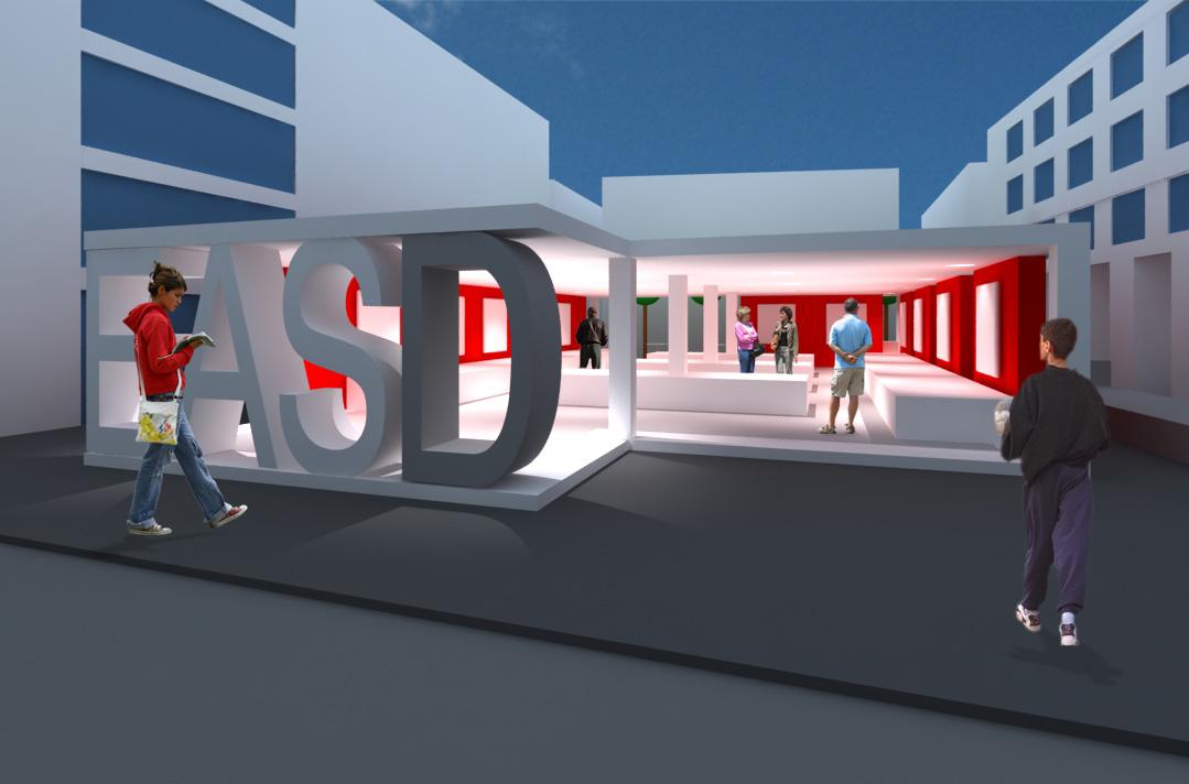 Espacio expositivo easd para la plaza viriato javier pardillo creative design - Easd valencia ...