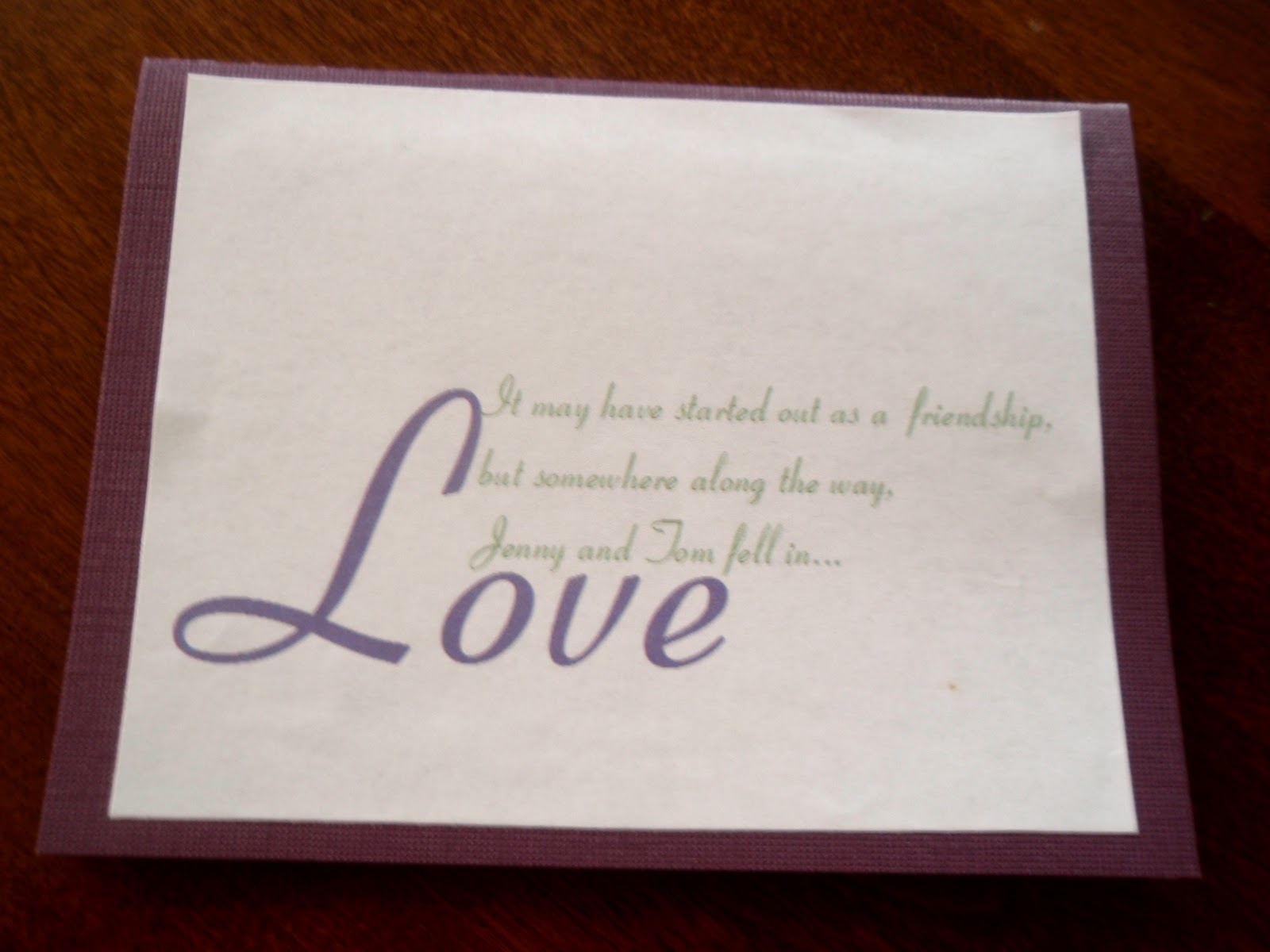 Our Day (In the Making): DIY Save-the-Date cards