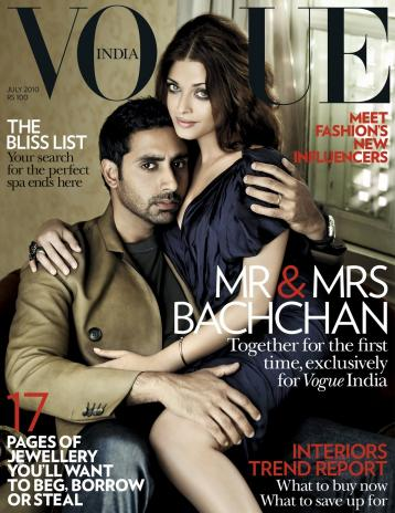 Aishwarya Rai and Abhishek Bachchan on Vogue Magazine
