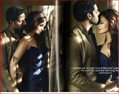 Aishwarya Rai with her husband Abhishek Bachchan on Vogue Magazine