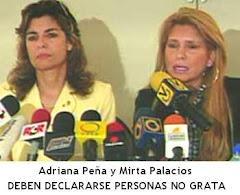 Hay que declararlas PERSONAS NO GRATAS por la clara intervención en asuntos internos de Venezuela