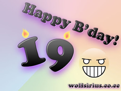 [Image: Happy Birthday 19 !]