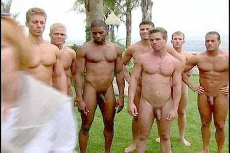 Naked sports team photo all