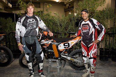 Geoff Aaron & Homero Diaz at World EnduroCross Championship with Christini AWD KTM 250