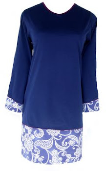 AM27 NAVY-BL FL (XS-XL)-MUSLIMAH T SHIRT