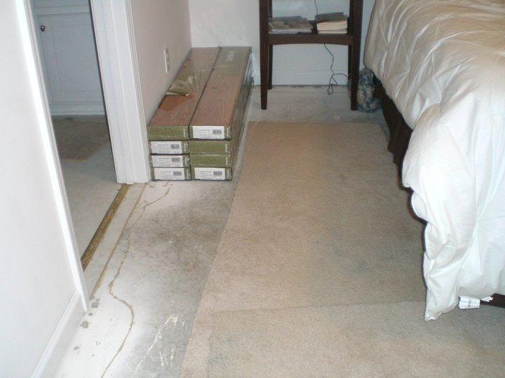Hardwood Concrete Slab ~ Remodelaholic wood floors over concrete slab