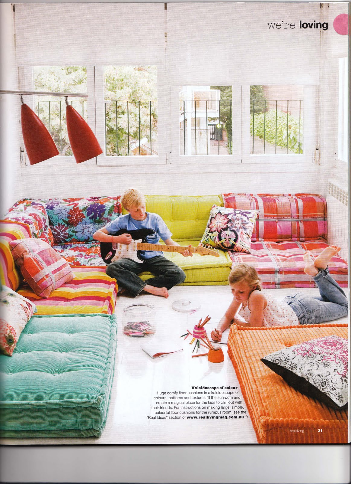 Design detective i love colour - Cushion flooring for living rooms ...