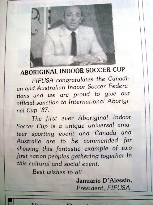 First Futsal Aboriginal Cup  In Canada  .1987
