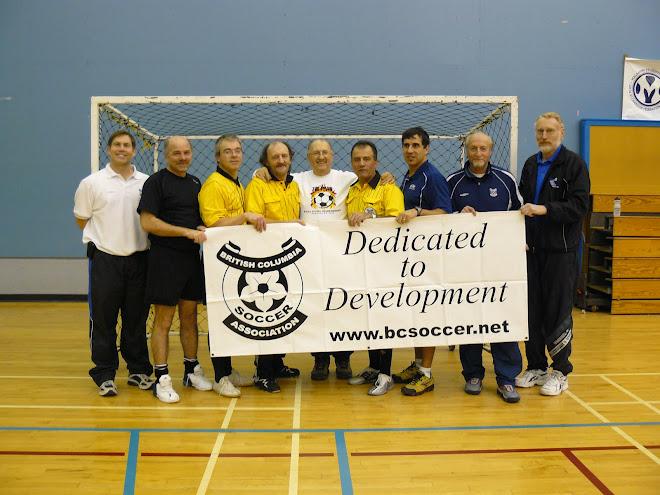 FIFA futsal pioneer in Canada Leo Beier with old futsal buddies