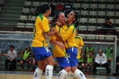 Futsal Women World Tournament in Spain : Brazil  creamed Russia with 4 goals to nil