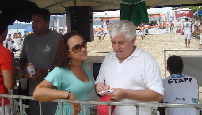 Footvoley In Balneario Camboriu Carlos Mateus Interviews Tatiane Cecilio
