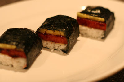 spam sushi with pineapple