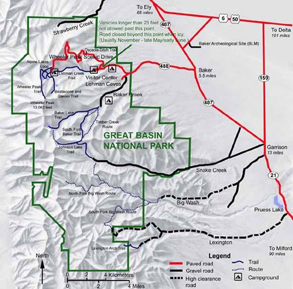 FisherDad Great Basin Park Baker NV - Us map great basin