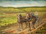 Cesta za prácou na pole