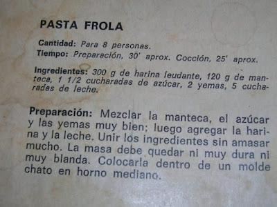 Pasta Frola con dulce de leche