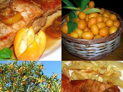 Cerdo  glaseado con kinoto o kumquat