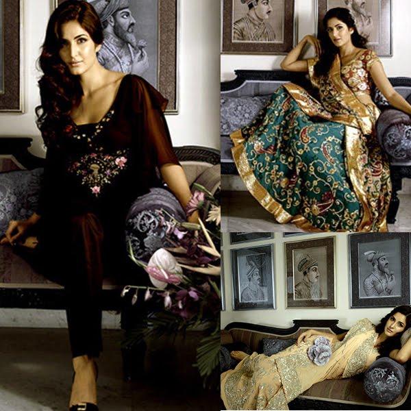 Katrina Kaif Bollywood Saree Salwar Kameez
