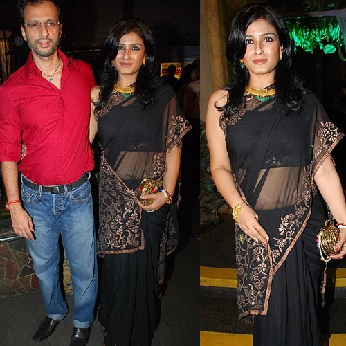 Raveena And Anil Thandani At the Launch of Jeweleravi Store