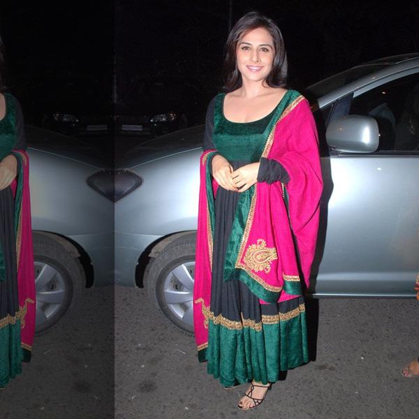 Vidya Balan Designer Anarkali Dress