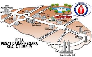 Map to Pusat Darah Negara