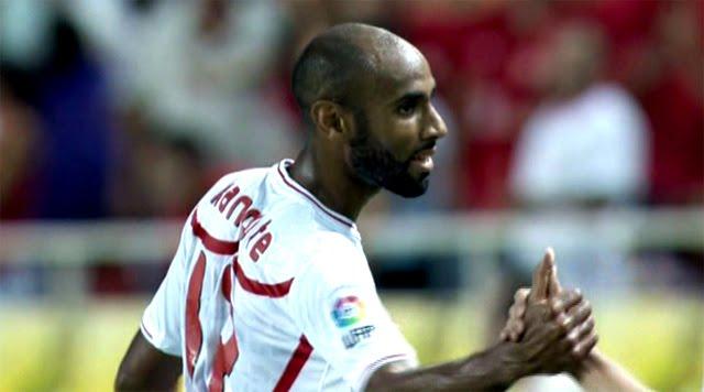 Kanouté, jugador del Sevilla C.F.