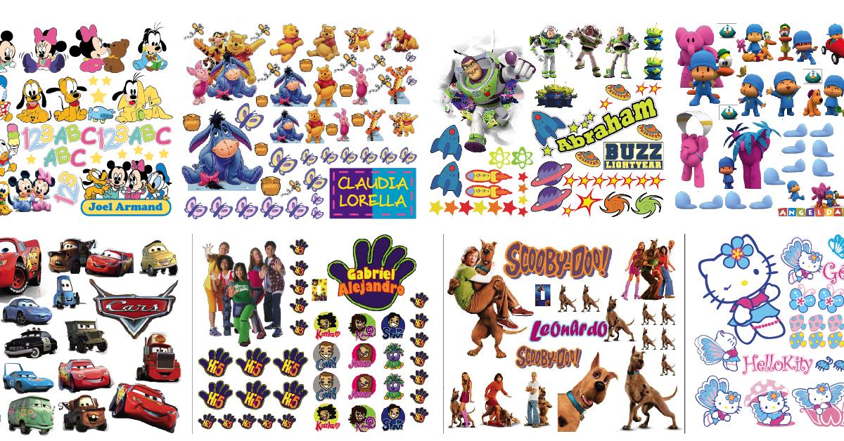 Puchunguitos stickers decorativos para habitaciones for Stickers para habitaciones infantiles