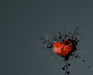 My Heart Black Love Wallpaper