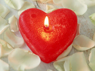 Candle Heart Love Wallpaper