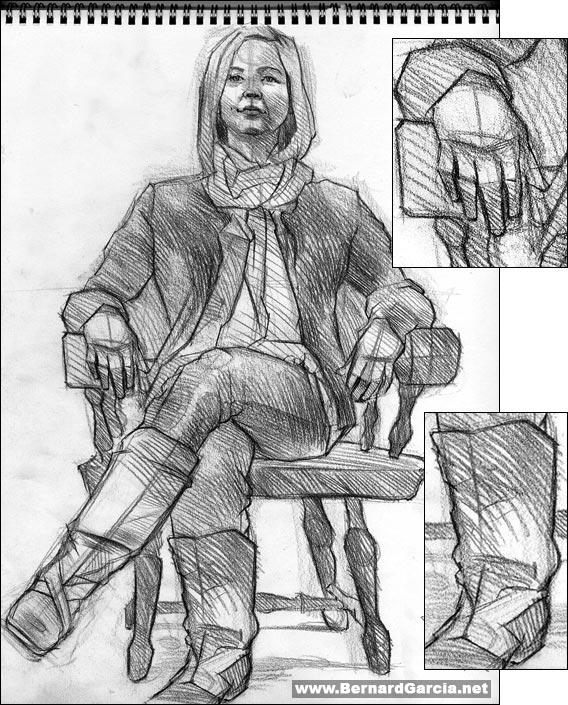 Full Figure Portrait Drawing