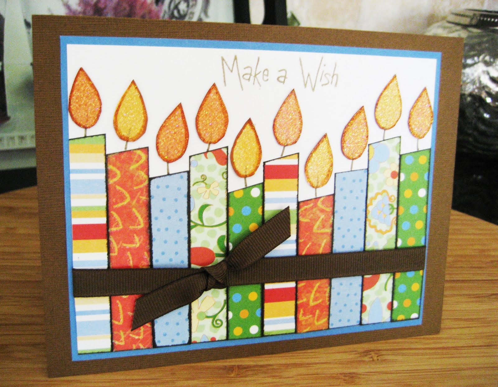Playing with Paper Scrapbooks Cards DIY Make a Wish Candles – Birthday Card Scrapbook Ideas