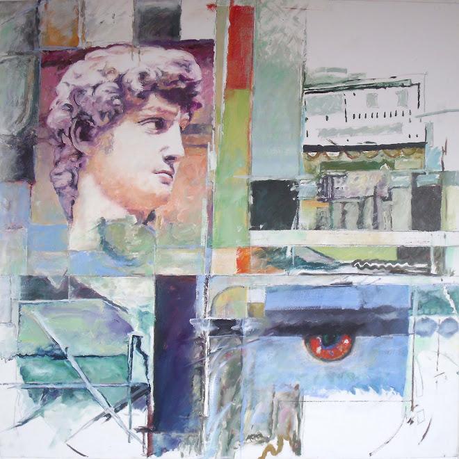 La mirada de David, óleo sobre lienzo, 75x75cm.