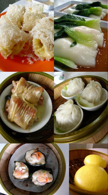 Durian Puff, Chee Cheong Fun, Xiao Long Bao, Steamed Egg Yolk Custard Bao, Seaweed Roll, Pork and Chinese Sausage Rolled in Beancurd Skin @ Jin Xuan, Damansara Jaya, PJ