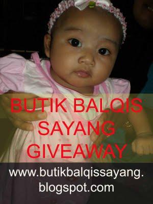 Butik Balqis Sayang Giveaway