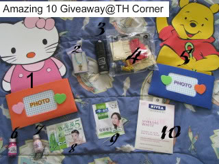 Amazing 10 Giveaway @ TH Corner