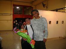 """Con el amigo y artista plástico Angel """"PINKY"""" Coria"""