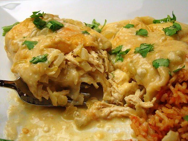 Krista's Kitchen: The Pioneer Woman's White Chicken Enchiladas